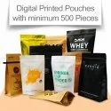 Digital Printed Stand Up Pouches with Zipper Minimum 500 Pieces