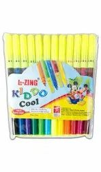 Plastic Lezing Kiddo Cool Sketch Pen, For Colouring, Packaging Type: Packet