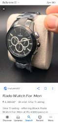 Rado Analog Mens Watch