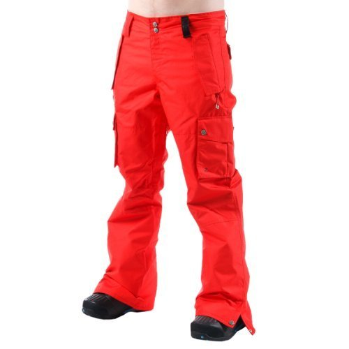 watch attractivefashion store Plain Red Mens Cargo Pant