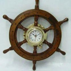 Decorative Ship Wheel Clock
