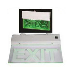 Emergency Exit Light with Halogen LED