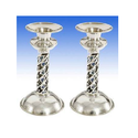 Designer Pair Candle Stand in Pure Silver
