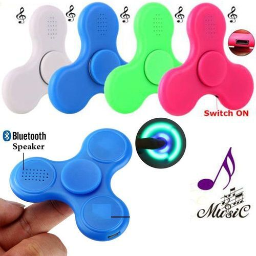 Led Light Bluetooth Wireless Speakers Fidget Hand Spinner