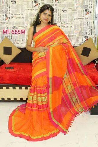 544dcc2e3bbfe2 Pure Khadi Cotton Sarees, 5.5 M Separate Blouse Piece, Rs 999 /piece ...