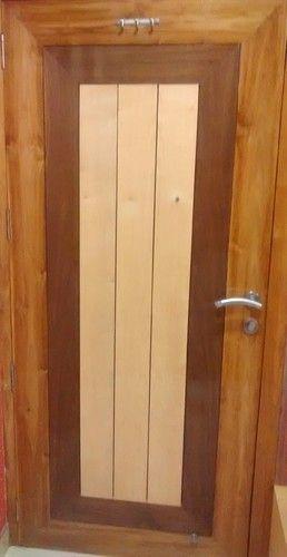 Engineer Wood Door white Ashwhite Oak Walnut Combination at Rs