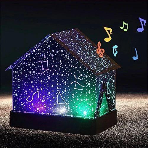 DIY Projector Speaker Audio Cutting Board Night Light Lamp