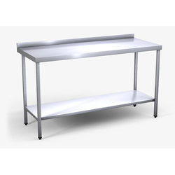 Silver Stainless Steel Table, Size: 1200 X 600 X 800 Mm