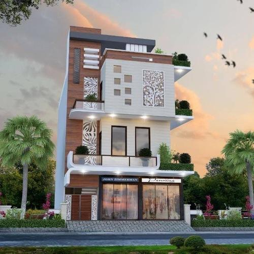 Front Elevation Design Ideas From Architects In Jaipur: 3D Elevation Architectural Design Service In Purana Agra