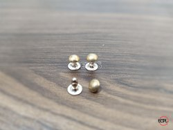 6mm Brass Top Bottom Rivets Golden
