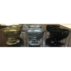 Plastic Black & Grey Ice Cream Cup
