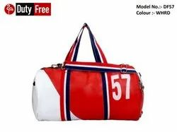White & Red Gym Bag
