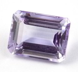 Rectangle Shape Purple Color Loose Stone