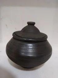 Black Clay Curd Pot