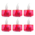 Red 6 Led Diya Set Dd203r
