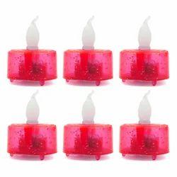 6 Red LED Diya Set DD203R