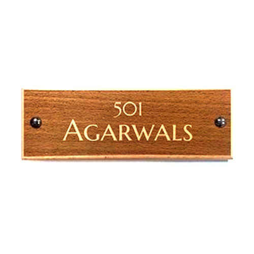 Wooden Door Name Plates at Rs 1200 /piece | Wooden Name Plate | ID ...