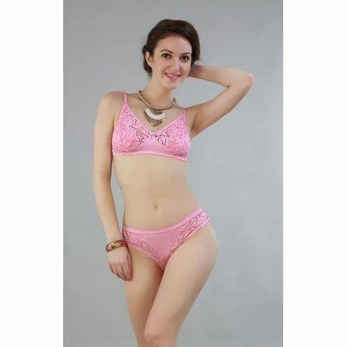 2c68ae7faeaec Pink Bra Panties Set
