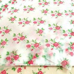 Flower Print Butter Wrapping Paper