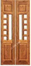 Pooja - Main Doors - Border Burma Teak Wood Doors