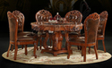 Round Aarsun Woods Wooden Carved Dining Set-kitchen Furniture, For Home