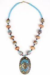 Antique Necklace Sky Blue