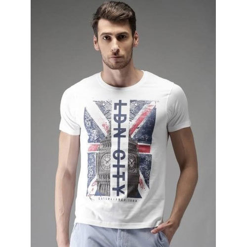 4d559ccf3 Men Cotton Printed Half Sleeve Round Neck T-Shirts, Rs 250 /piece ...