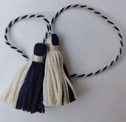 Tassels India Black white Bookmark Tassel