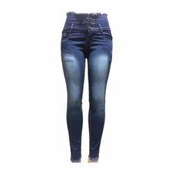 Slim High Rise Ladies Denim Jeans, Waist Size: 28-32