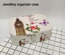 Synthetic Leather Jewelry Case for Earrings, Rings, Necklaces, Bracelets, Jewelry Organizer Case
