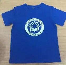 Round Neck T Shirt for School Children's