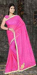 Synthetic Lycra Silk Sarees, 5.5 M (separate Blouse Piece)