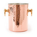 Copper Hammered Wine Ice Beer Bucket, Size: 21 Cm