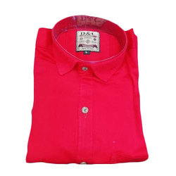Red D & C Mens Formal Shirt, Size: 38 to 44