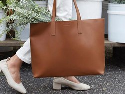 Artificial Leather Ladies Bag, Size: 12 Inch X 16 Inch