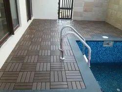 Brushing Decking Tiles