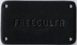 Rectangular Metal Label