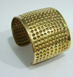 Brass Hammered Cuff