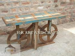 Sheeshem Wood Antique Reclaimed Side Table