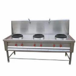 Commercial Triple Burner Cooking Range