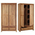 Fuzzywoods High Quality Engineering Wood Wooden 2 Door Wardrobe