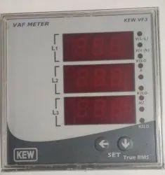 Three VAF Digital Meter, Model Name/Number: VF3, 110-380 V