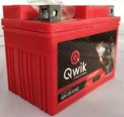 Qwik Motorcycle Battery QR12R 4MF, Capacity: 3ah