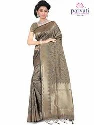 Weaving Work Art Silk Saree By Parvati Fabric