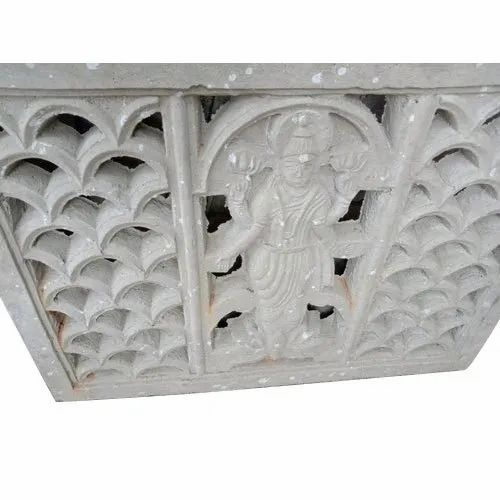 Cement Jali with Goddess Design for Construction