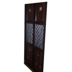 Brown Aluminium Pooja Room Door
