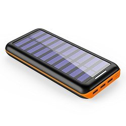 Black And Yellow 10000 mAh Solar Power Charger