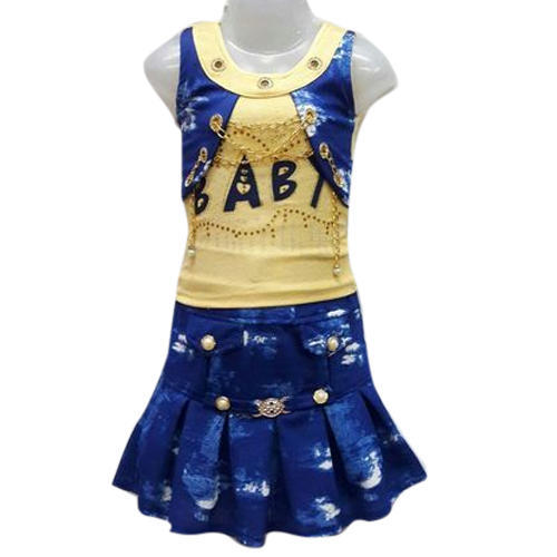 d7c9ce247 Yellow And Blue Denim Baby Girl Skirt Top, Rs 300 /set   ID: 16801721191