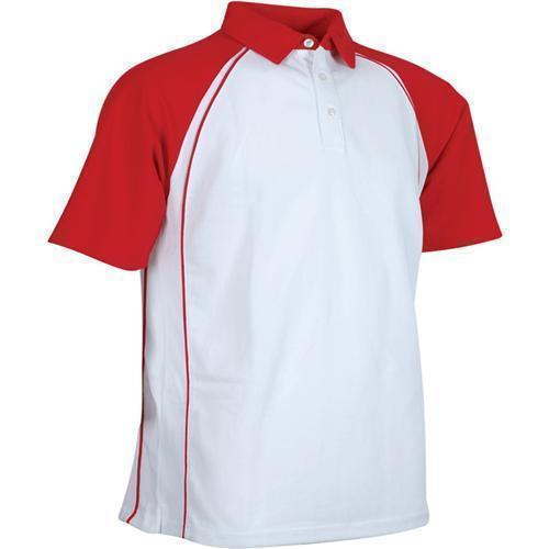 Red And White Sports Collar T Shirts