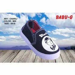 Canvas Sky Blue BABU-G Charli Kids Shoes, Packaging Type: Box, 5x10